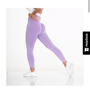 New lilac seamless leggings